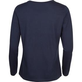 Elkline Dots Langærmet T-shirt Damer, blueshadow
